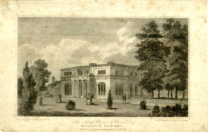 'The Seat of Abraham Goldsmid Esqr, Morden, Surrey', Drawn by Gyford & Engraved by Hawkins For Dr. Hughson's Description of London, Published by J. Stratford, 112, Holborn Hill Dec 27 1806.'