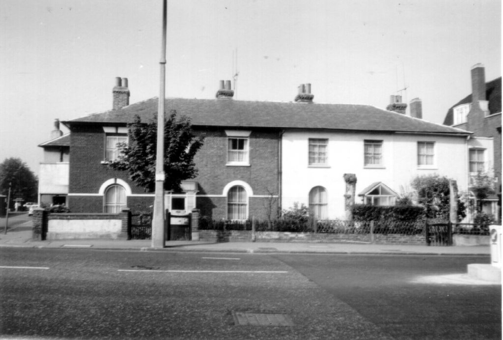 40-34 Morden Rd SW19, 40-38 Morden Rd SW19. This terrace of cottages were the first to be built in the Merton section of Nelson's former Merton Place estate (1970) WJR (1970) WJR