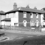 40-38 Morden Rd SW19. This terrace of cottages were the first to be built in the Merton section of Nelson's former Merton Place estate (1970) WJR
