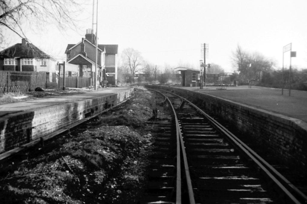 Merton Park station Merton Abbey branch (1972) WJR