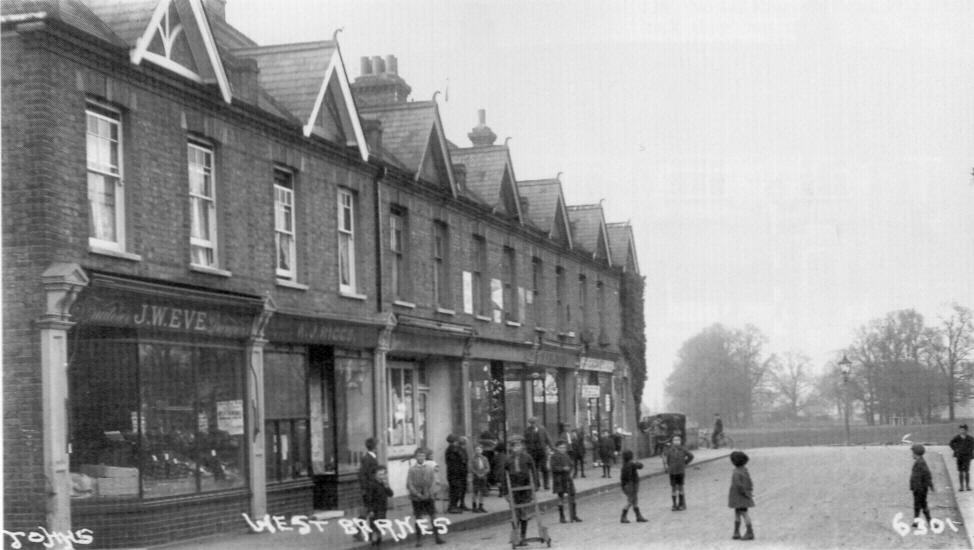 Shops in Seaforth Avenue, West Barnes, Merton. Edwardian postcard.