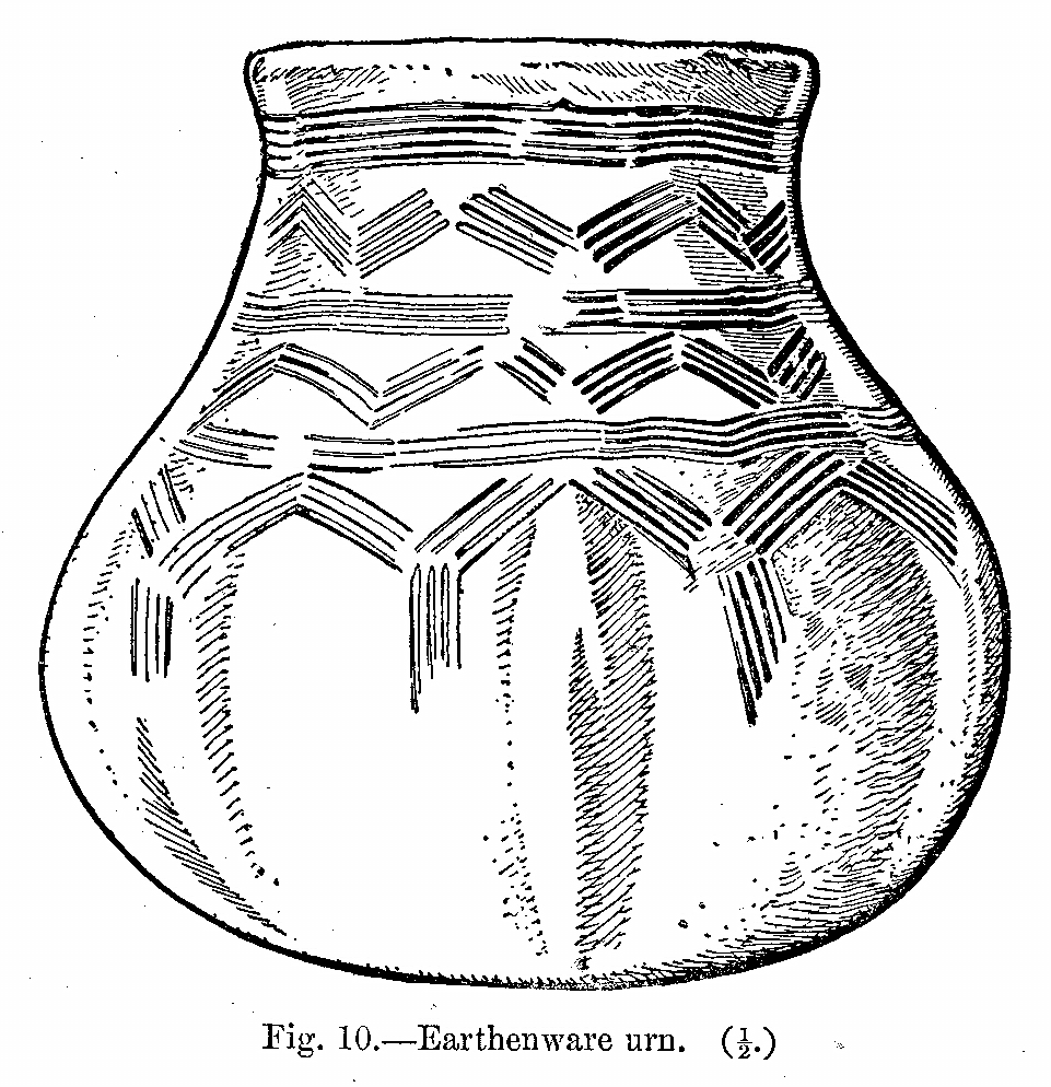 Anglo-Saxon Cemetery, Mitcham: earthenware urn (from H F Bidder Surrey Archaeological Collections 21 (1908) p.10