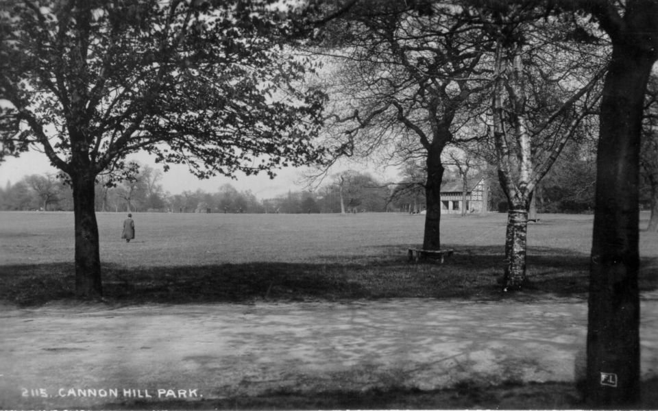Early postcard of Cannon Hill 'Park' – no postmark