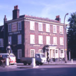 The Kings Head, 315 London Road, (at Mitcham Cricket Green), Mitcham, Surrey CR4. Looking south-east. In 1975 it was re-named Burn Bullock.