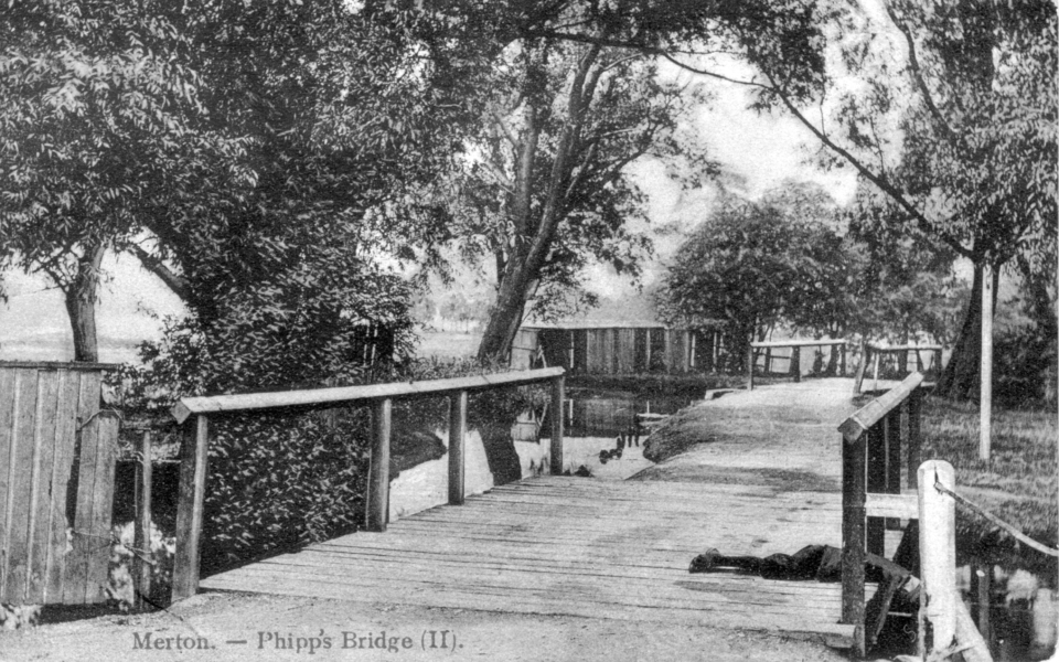 'Merton, Phipp's Bridge'. Edwardian postcard.