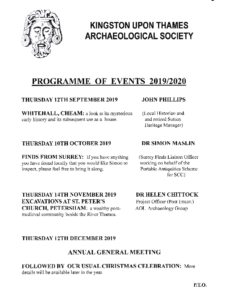 KUTAS PROGRAMME SEPT TO MARCH 2020