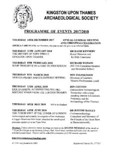 KUTAS programme 2017-2018